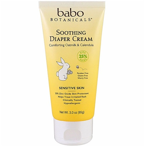 Babo Botanicals Sensitive Skin Soothing Diaper Cream Perspective: front