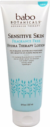 Babo Botanicals Sensitive Skin Frangrance Free Hydra Therapy Lotion Perspective: front