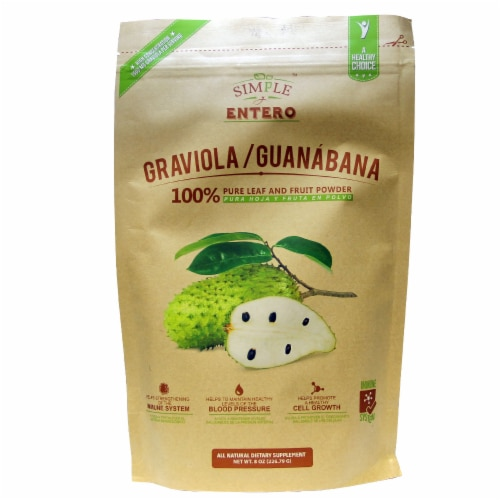Simple y Entero Graviola/Guanabana Leaf and Fruit Powder Perspective: front