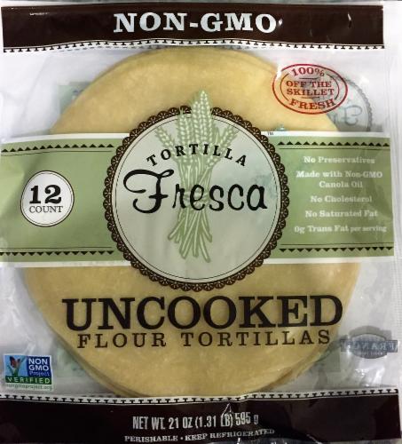 Tortilla Fresca Non-GMO Uncooked Flour Tortillas Perspective: front