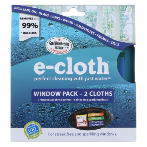 E-Cloth Window Cleaning Cloth - 2 Pack Perspective: front