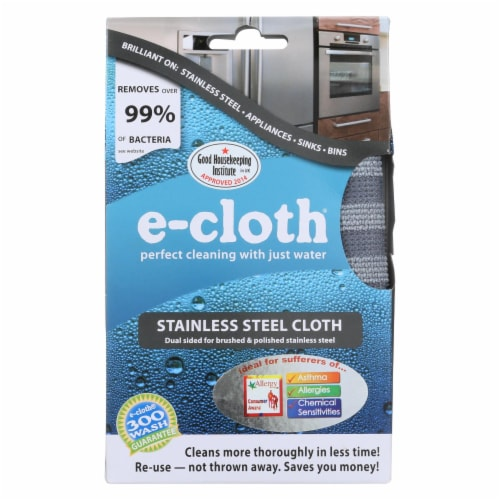 E-Cloth Stainless Steel Cleaning Cloth Perspective: front
