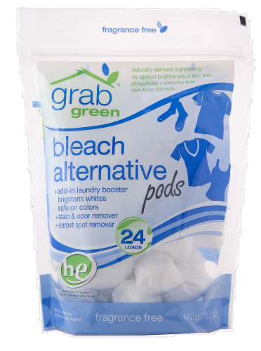 Grab Green Fragrance Free Bleach Alternative Pods Perspective: front
