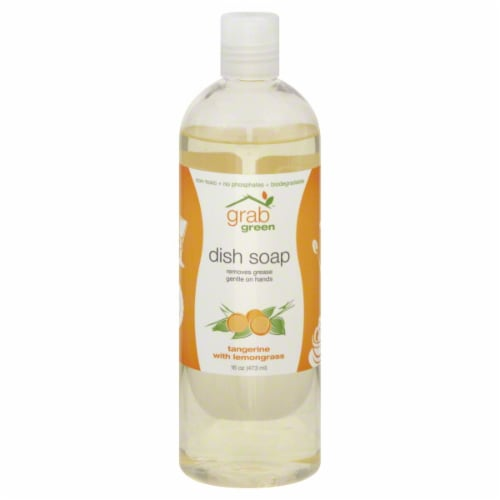 Grab Green Tangerine With Lemongrass Dish Soap Perspective: front
