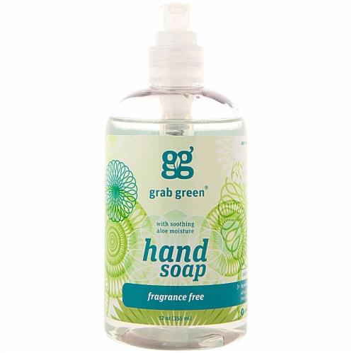 GrabGreen Hand Soap Fragrance Free Perspective: front
