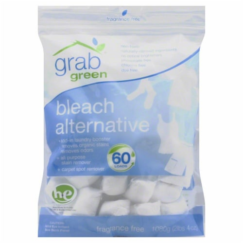 Grab Green Fragrance Free Bleach Alternative Pods 60 Count Perspective: front