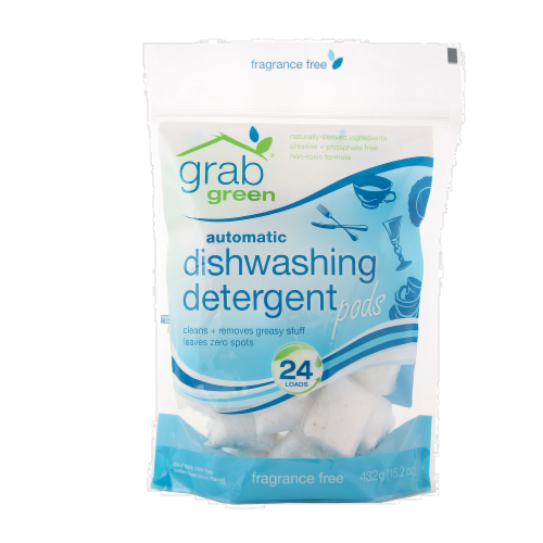 Grab Green Fragrance Free Dishwashing Detergent Pods Perspective: front
