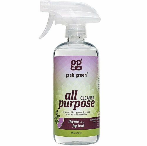 GrabGreen  All Purpose Cleaner Thyme with Fig Leaf Perspective: front