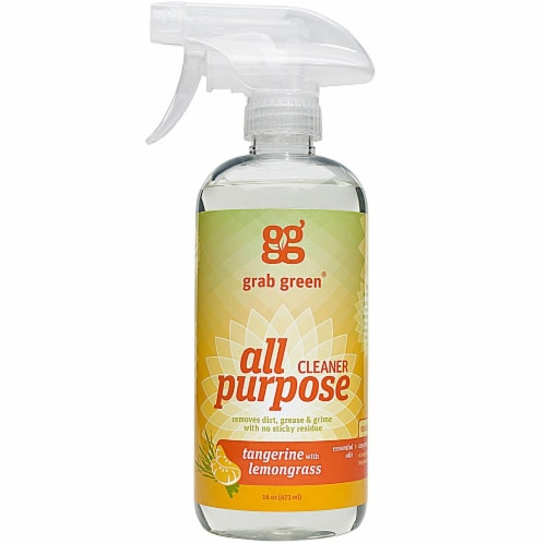 GrabGreen  All Purpose Cleaner Tangerine With Lemongrass Perspective: front