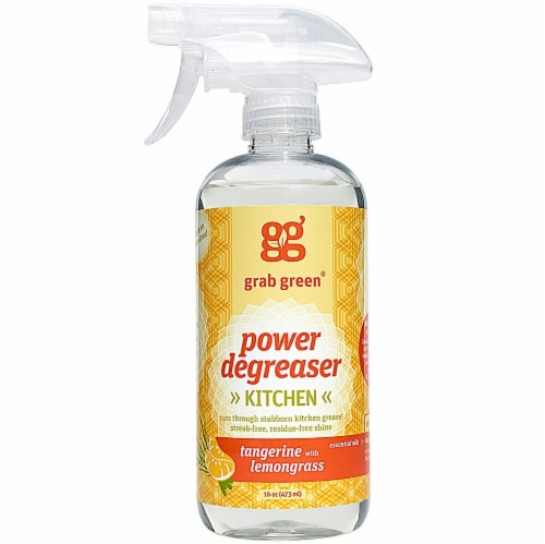 GrabGreen  Degreaser Cleaner Tangerine with Lemongrass Perspective: front