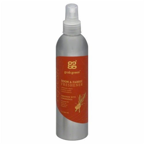 Grab Green Refresh Tangerine With Lemongrass Air Freshener Perspective: front