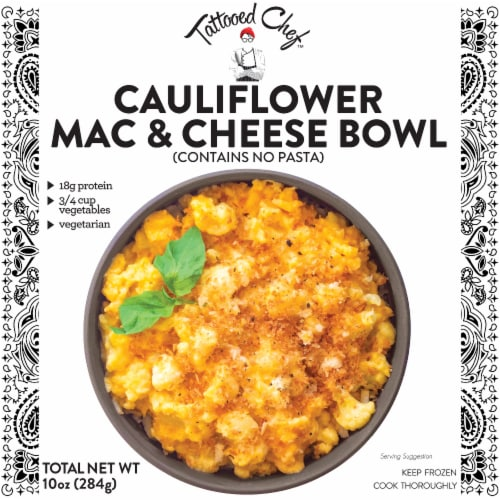 Tattooed Chef™ Cauliflower Mac and Cheese Bowl Frozen Meal Perspective: front