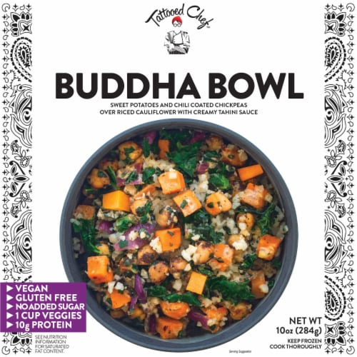 Tattooed Chef™ Riced Cauliflower Buddha Bowl Frozen Meal Perspective: front