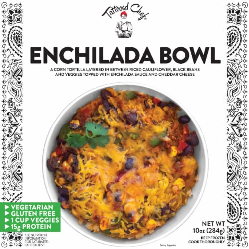 Tattooed Chef™ Riced Cauliflower Enchilada Bowl Frozen Meal Perspective: front