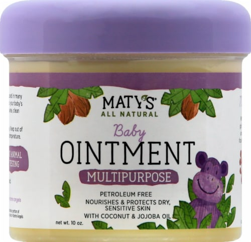 Maty's All Natural Multipurpose Baby Ointment Perspective: front