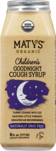 Maty's Organic Children's Goodnight Cough Syrup Perspective: front
