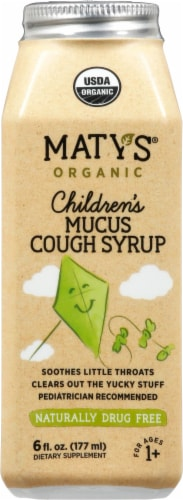 Maty's Organic Children's Mucus Cough Syrup Perspective: front