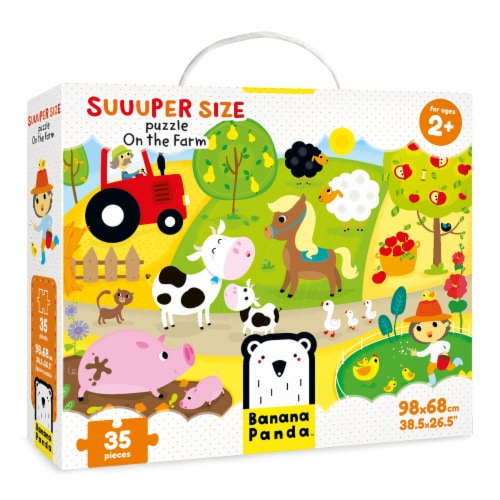 Suuuper Size Puzzle  On the Farm Perspective: front