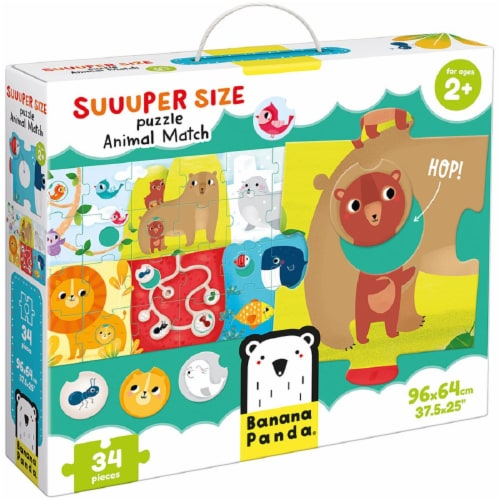 Suuper Size Puzzle Animal Match Perspective: front