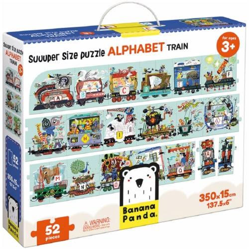 Suuper Size Puzzle Alphabet Train Perspective: front