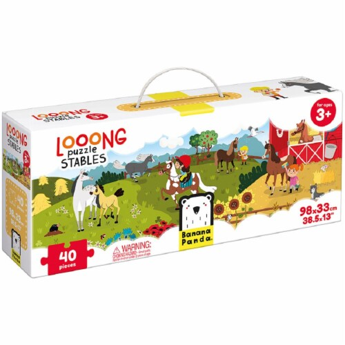 Looong Puzzle Stables Perspective: front