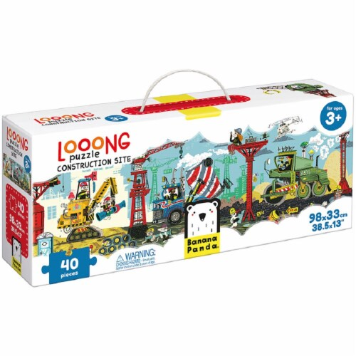 Looong Puzzle Construction Site age 3+ Perspective: front