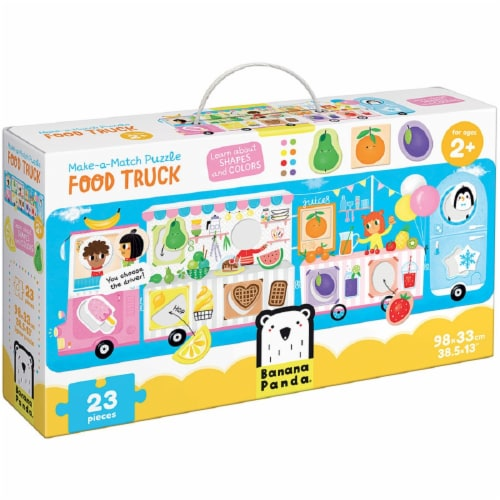 Make-a-Match Puzzle Food Truck 2+ Perspective: front