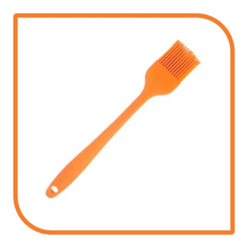 My XO Home Silicone Kitchen Cooking Tools (Orange Basting Brush) Perspective: front