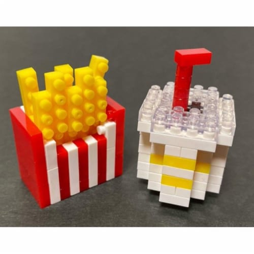 French Fries and Drink Petit Block from Daiso Japan Perspective: front