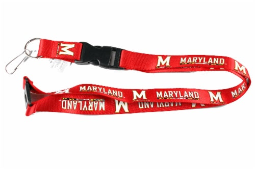 Aminco Modern NCAA Maryland Terps Terrapins Lanyard Keychain Badge Holder Perspective: front
