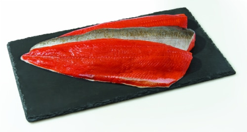 Salmon Sockeye Fillet (Wild Caught Frozen) (Service Counter) Perspective: front