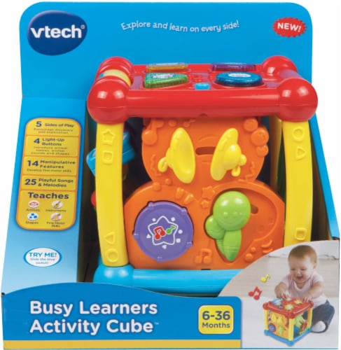 VTech Busy Learners Activity Cube Perspective: front