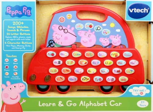 VTech Peppa Pig Learn & Go Alphabet Car Toy Perspective: front