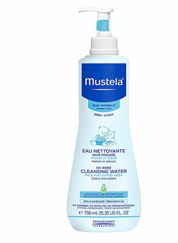 Mustela  No Rinse Cleansing Water For Face and Diaper Area Perspective: front