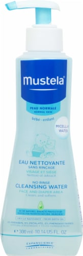 Mustela No Rinse Cleansing Micellar Water Face and Diaper Area Perspective: front