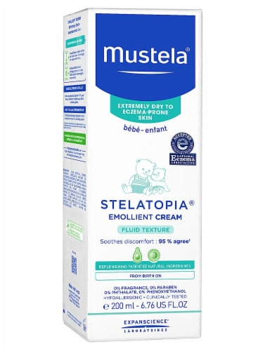 Mustela Stellatopia Fragrance Free Emollient Cream Perspective: front