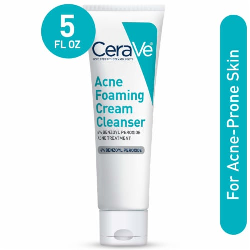 CeraVe Acne Foaming Cream Cleanser Perspective: front