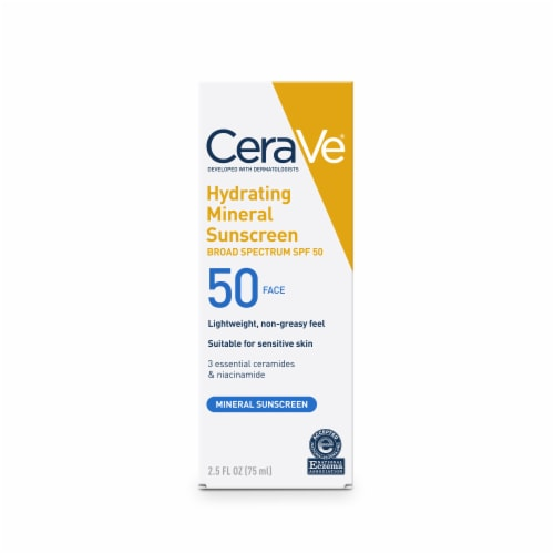 CeraVe Hydrating Mineral Face Sunscreen SPF 50 Perspective: front
