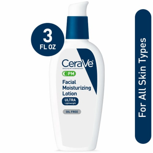 CeraVe PM Facial Moisturizing Lotion Perspective: front