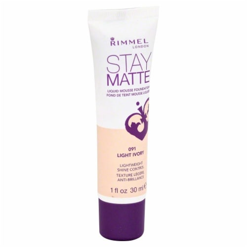 Rimmel Stay Matte 091 Light Ivory Foundation Perspective: front