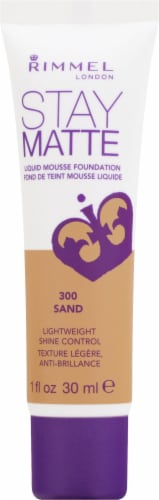 Rimmel Stay Matte 300 Sand Liquid Mousse Foundation Perspective: front