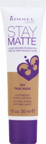 Rimmel Stay Matte 303 True Nude Liquid Mousse Foundation Perspective: front