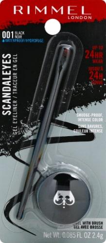 Rimmel Scandaleyes 001 Black Gel Eye Liner Perspective: front