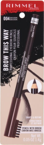 Rimmel Professional Black Brown Eye Brow Pencil Perspective: front