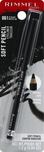 Rimmel Soft Kohl Jet 061 Black Eyeliner Perspective: front