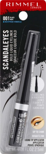 Rimmel Scandaleyes 001 Black Bold Liquid Eyeliner Perspective: front
