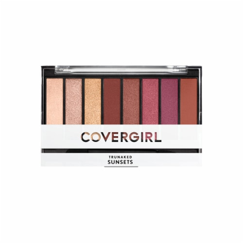 CoverGirl TruNaked Sunsets Eyeshadow Palette Perspective: front