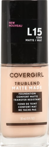CoverGirl TruBlend L15 Matte Made Porcelain Liquid Foundation Perspective: front