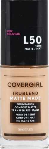 CoverGirl Trublend Matte Made L50 Fair Beige Foundation Perspective: front