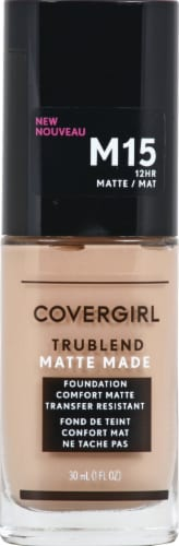 CoverGirl Trublend Matte Made M15 Buff Beige Foundation Perspective: front